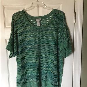 New 1X Summer Sweater Green